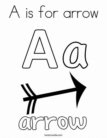 Coloring Letter Arrow Pages Letters Printable Bow