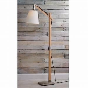 Modern rustic wood arc floor lamp rustic wood arc floor for Rustic floor reading lamp