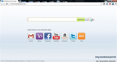 remove   web search virus mywebsearchcom