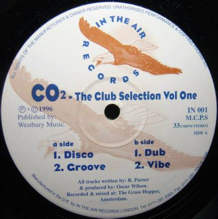 Co2  The Club Selection Vol One (vinyl) At Discogs