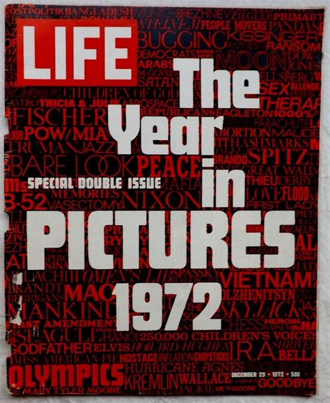 The Year In Pictures Last Issue December 29 1972 Life