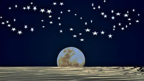 full moon  midnight sky  stock photo public