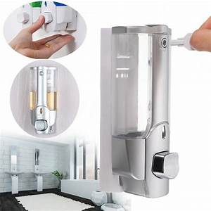 Wall Mounted Shampoo Soap Dispenser Bathroom Shower Manual