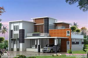 2400 sq feet Modern contemporary villa - Kerala home