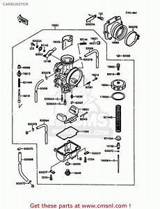 Kawasaki 1988 C3  Kdx200 Carburetor
