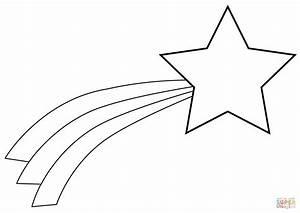 Christmas Shooting Star coloring page Free Printable