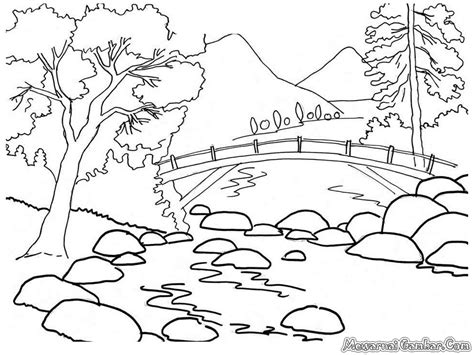 nature scene pencil coloring pages