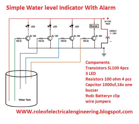 Electrical Engineering World Water Level Indicator With