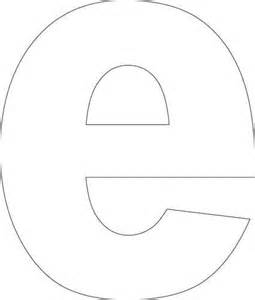 Free Printable Lower Case Letter E Templates