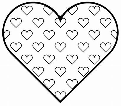 Hearts Coloring Pages Printable Valentine Heart Printables