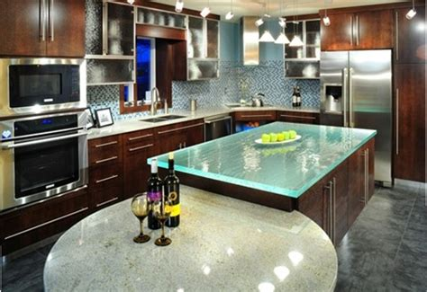 Explore The Pros And Cons Of Glass Countertops  Interior. Kitchen Islands Houzz. Pinterest Kitchen Lighting Ideas. Undercounter Kitchen Lights. How To Install Recessed Lighting In Kitchen. Kitchen Wallpaper Tile Effect. Green Tile Kitchen Backsplash. Kitchen Appliances Stainless Steel. Soup Kitchens Long Island