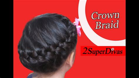 crown braid hairstyle updo