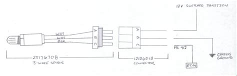 O2 Fuse Diagram by 3 Wire O2 Sensor Wiring Diagram Wiring Diagram And Fuse