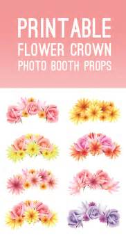 printable bachelorette party free printable photo booth flower crown props for your