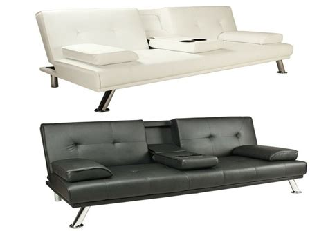 Click Clack Bed Settee by Faux Leather Sofa Bed Click Clack Settee 2 3