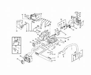 Mcculloch M3816  952802298  Chainsaw Chassis  U0026 Enclosures