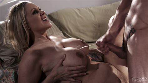 Julia Ann Collects Cum On Her Luscious Breasts After A