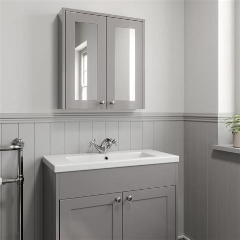mm bathroom mirror cabinet  door storage cupboard wall