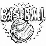 Baseball Coloring Glove Mitt Doodle Printable Sheets Vector Drawing Format Softball Sport Colouring Illustration Getdrawings Playing Basketball Kid Adult Title sketch template