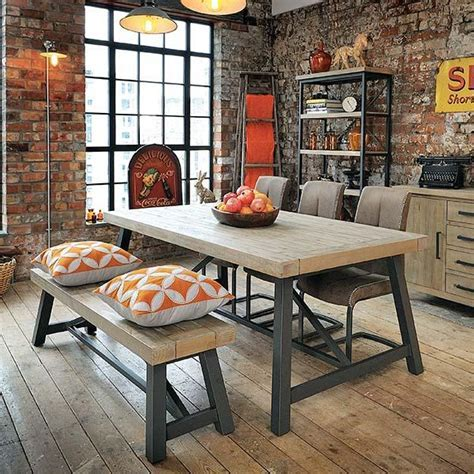 Reclaimed Wood Furniture   Industrial Dining Table