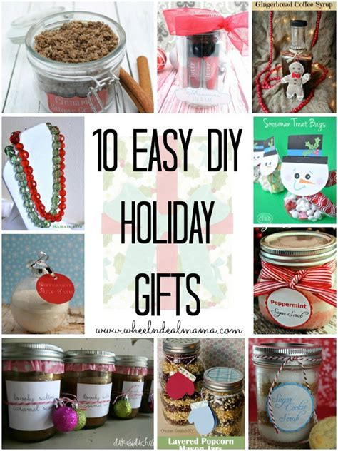 10 Easy Do-it-Yourself Holiday Gifts - Wheel N Deal Mama