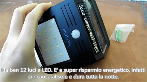 lade con pannello solare lada luce da esterni con pannello solare a 12 led holan