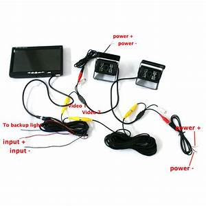 7 Tft Color Lcd Screen Monitor For Car Rear View Camera