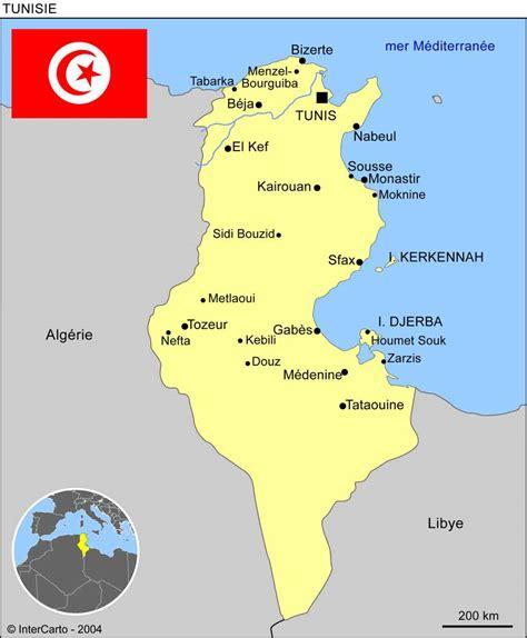 Carte Du Monde Tunisie by Carte G 233 Ographique Et Touristique De La Tunisie Tunis