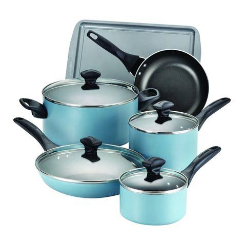 cookware nonstick farberware sets dishwasher safe piece strip runner budget