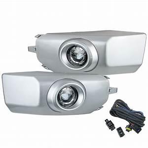 Pair Of Front Bumper 12v Fog Light Lamp For Fj Cruiser