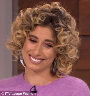 emily atack grease stacey solomon unveils wild corkscrew curls on loose women