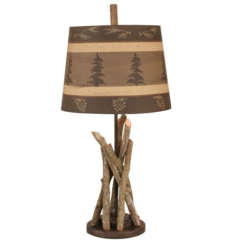 pine cone l shade cfire accent l with tree and pine cone shade