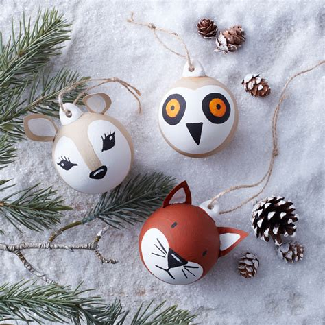 woodland animal baubles hobbycraft blog
