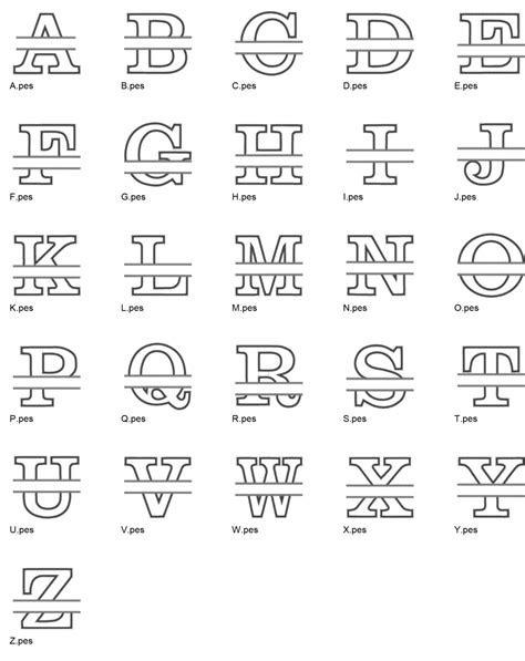 split font applique embroidery design set instant