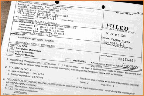 california divorce papers marital settlements information