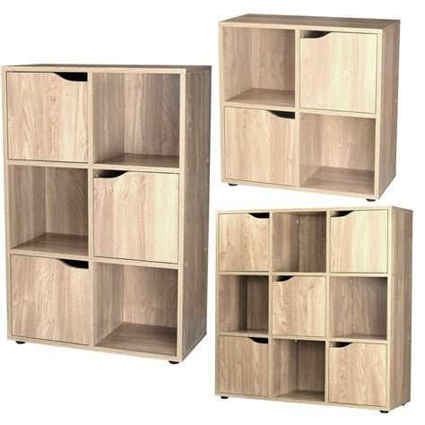 wooden cube storage unit display shelves cupboard