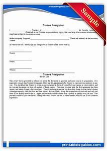 Free Printable Trustee Resignation Form (GENERIC)