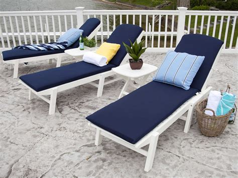 chaises polycarbonate polywood nautical recycled plastic stackable chaise
