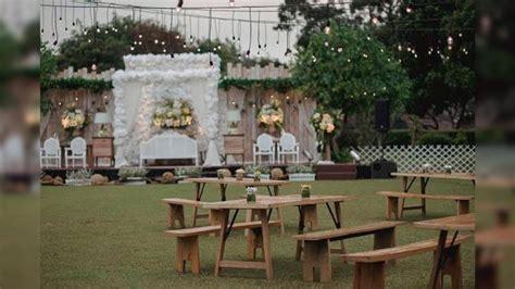 ide pernikahan rustic  bisa diterapkan   gedung