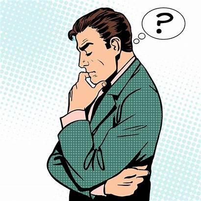 Thinking Clipart Person Cartoon Clip Pensando Thought
