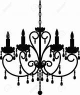 Chandelier Clipart Vector Antique Silhouette Illustration Clip Candelabra Spooky Depositphotos Lustres Cliparts Google Prikhnenko Library Royalty Salvo sketch template