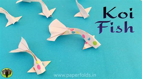 Koi Fish Diy Origami Tutorial Paper Folds Youtube
