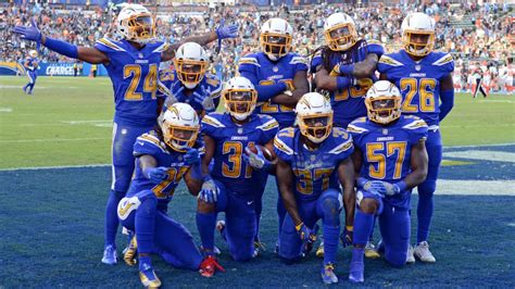 los angeles chargers  wear color rush uniforms sunday