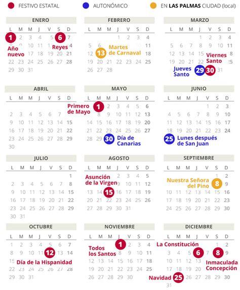 calendario laboral las palmas todos los festivos