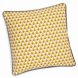 Housse De Coussin 40x40 Maison Du Monde : housse de coussin en coton jaune 40 x 40 cm hilton maisons du monde ~ Teatrodelosmanantiales.com Idées de Décoration