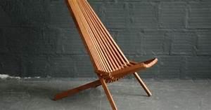 Modern Wood Bowl Chairs See Teak Folding Indoor Outdoor Slat Lounge Chair