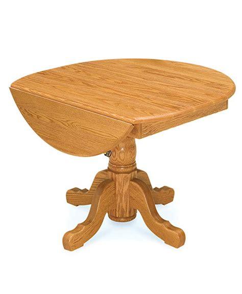 pedestal table with leaf drop leaf pedestal table amish direct furniture