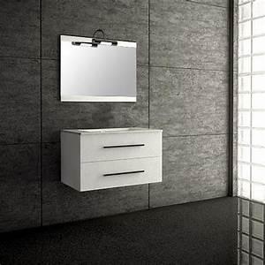 Meuble Salle De Bain Suspendu : seville blanc meuble suspendu salle de bain 80cm achat ~ Melissatoandfro.com Idées de Décoration