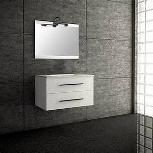 seville blanc meuble suspendu salle de bain 80cm achat With meuble salle de bain suspendu 80 cm