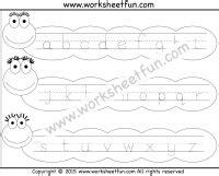 small letter tracing lowercase worksheet free printable worksheets worksheetfun